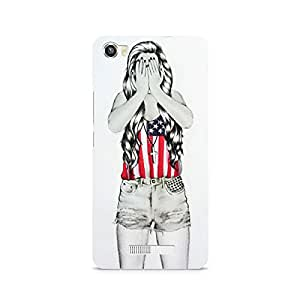 Mobicture Girl Abstract Premium Designer Mobile Back Case Cover For Lava Iris X8