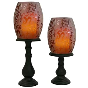 Pacific Accents Willmington 2-Piece Etched Hurricane