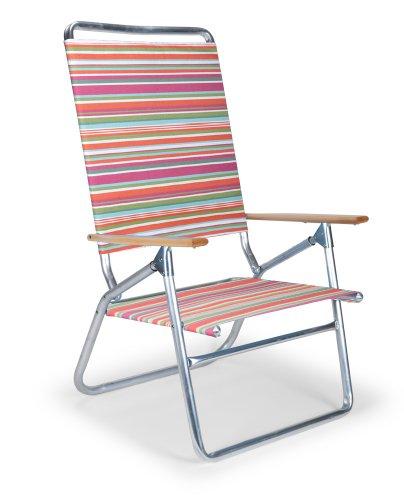 Telescope Casual Light and Easy High Boy Folding Beach Arm Chair, Malibu