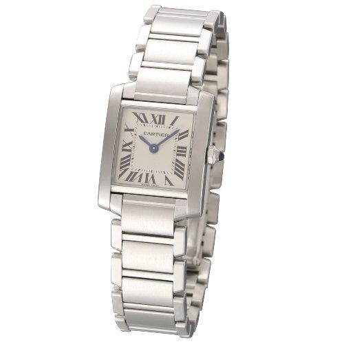[カルティエ]CARTIER 腕時計 タンクフランセーズ ホワイト W51008Q3 レディース 【並行輸入品】