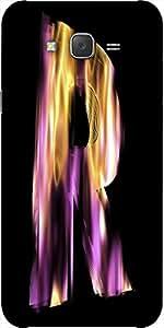 Snoogg Flaming 3D Letter Designer Protective Back Case Cover For Samsung J7