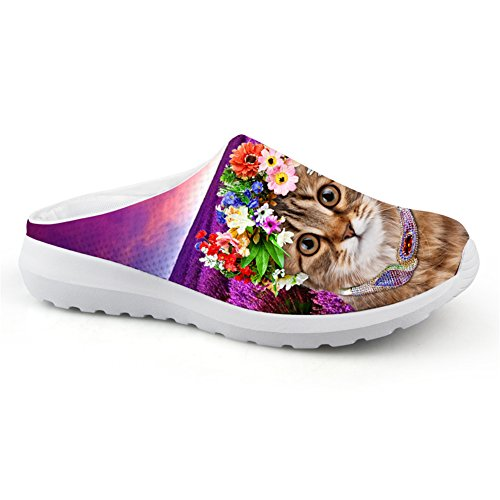 Breathable Slipper Ladies Lovely Cat Casual Mesh Flats Lazy Shoes 37 (Baby Shoes For Fat Feet compare prices)