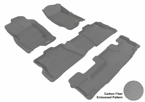 3D MAXpider Complete Set Custom Fit All-Weather Floor Mat for Select Jeep Grand Cherokee Models Kagu Rubber Gray
