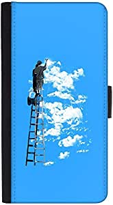 Snoogg Painting The Clouds 2676 Graphic Snap On Hard Back Leather + Pc Flip C...
