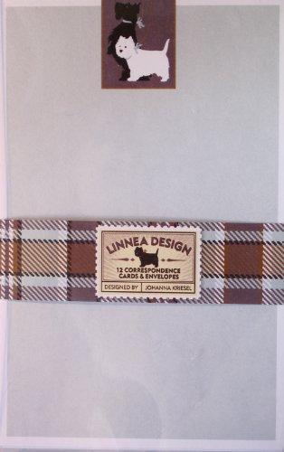 Correspondence Cards Scottie Plaid Design
