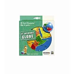 Generic 12 Inflatable Globe, Multi Color