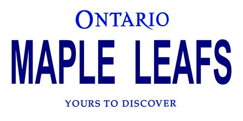 LP-2068 Ontario Canada Province Background License Plates- Maple Leafs