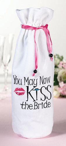 Lillian Rose You May Now Kiss the Bride Wine Bag