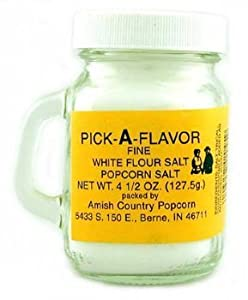 Fine White Popcorn Salt - 4.5 oz(PACK OF 12)