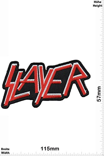 Patch - Slayer - Thrash-Metal-Band - Musicpatch - Rock - Vest - Iron on Patch - toppa - applicazione - Ricamato termo-adesivo - Give Away