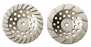 Dixie Diamond Manufacturing, Inc. (DDM) Dixie Diamond Manufacturing SPC724THRD SPC Cup Wheel Premium Grade for Dry/Wet Cutting, 7-Inch X 24-Inch X 5/8-Inch
