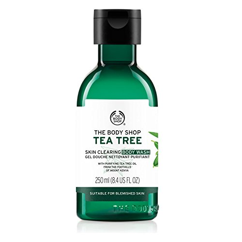 La Body Shop corpo Gel Doccia 250 ml albero del tè - riduce Acne/The Body Shop Tea Tree Body Wash Shower Gel 250 ml - reduces, acne