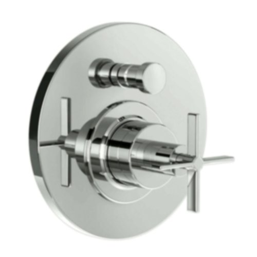 Jado 847545.144 Stoic Pressure Balance Diverter Tub and Shower Valve Trim with Cross Handle, Brushed Nickel