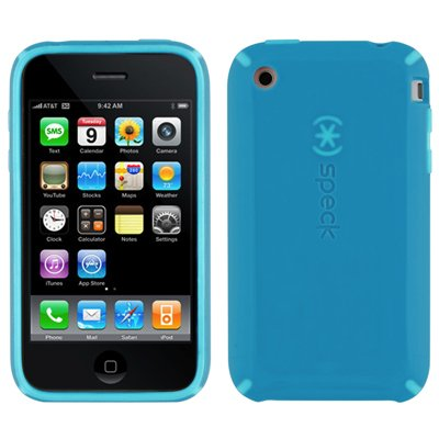 Speck Products CandyShell Case for iPhone 3G, 3G S (Blue/Blue)