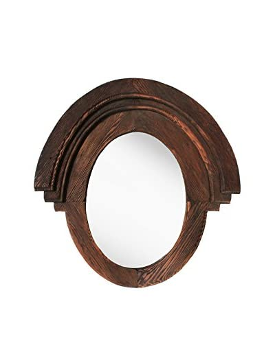 PTM Images Rustic Wood Framed Western Mirror, Natural