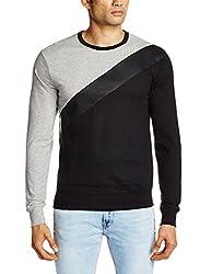 People Men's Cotton Sweatshirt (8903880795733_P10101358020100_X-Large_Black)