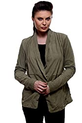 Design impex women's full sleeve leather jacket