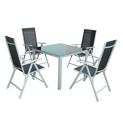 Homcom Aluminium Tisch Couchtisch Beistelltisch