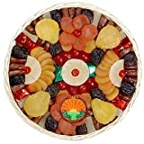 Garry's Dried Fruit Packs 3 Pound Christmas Hanukkah Holiday Thanksgiving Round Basket of Dried Fruits