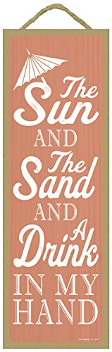 sjt02531-the-sun-and-the-sand-and-a-drink-in-my-hand-umbrella-image-beach-primitive-wood-plaques-sig