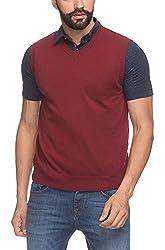 Raymond Men's Woolen Sweater (8907252536566_RMWY00449-M7_39_Maroon)