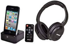 buy Pyle Home Pih30R Uhf Wireless Stereo Headphone With Wireless Iphone/Ipod Dock Transmitter And Rf Remote Control
