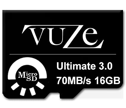 Vuze 16GB MicroSDHC Class 10 (70MB/s) Memory Card
