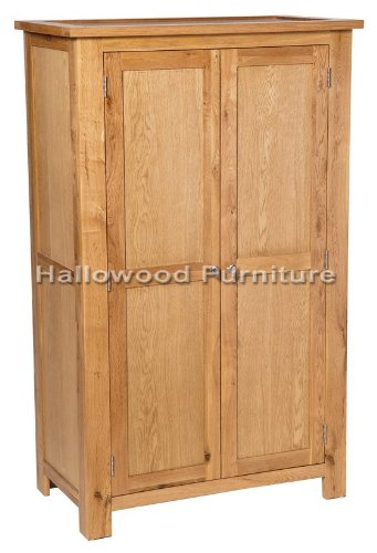 New Solid Waverley Oak Small Bedroom Wardrobe Cupboard with Adjustable Shelves