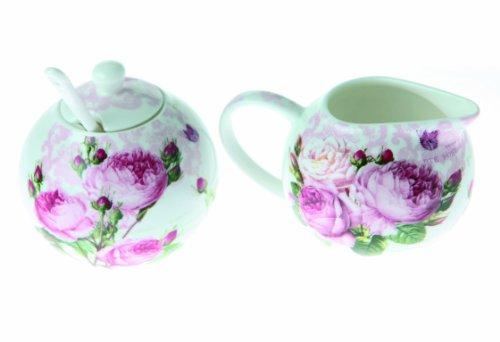 Nuova R2S R8694.283 Coffret Crémier + Sucrier Roses Romantiques