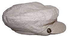 August Accessories Women's Hat Cap Newsboy Conductor Herringbone Natural Wool Blend