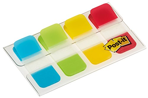 post-it-158-x-381-mm-strong-index-aqua-lime-yellow-red-pack-of-40