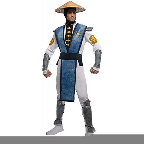 [GSG Raiden Costume Mortal Kombat Martial Arts Video Game Halloween Dress] (Female Videogame Characters Costumes)