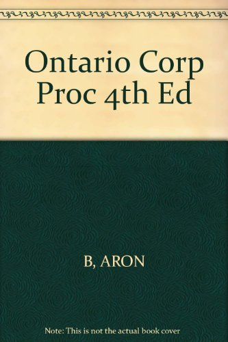 Ontario Corp Proc 4th Ed