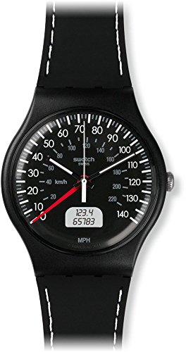 [スウォッチ]SWATCH 腕時計 NEW GENT(ニュージェント) BLACK BRAKE SUOB117 メンズ 【正規輸入品】