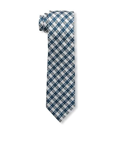 Tom Ford Men's Patterned Tie, Teal/White