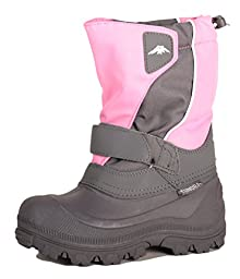 Tundra Quebec Snow Boot (Toddler/Little Kid/Big Kid),Pink/Charcoal,13 M US Little Kid