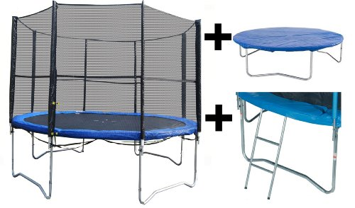 Vortigern 12ft Trampoline + Safety Net Enclosure + Ladder  &  Cover 12' CE  &  TUV Approved