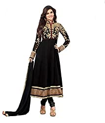 Decent World Black Georgette Exclusive Dress Material