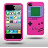 NowKin PINK IPHONE 4 / IPHONE 4S GAMEBOY STYLE SILICONE CASE / COVER / SHELL / SKIN