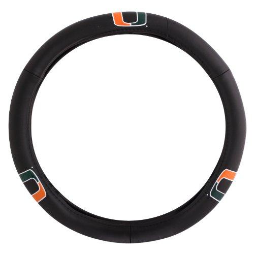 Pilot Alumni Group SWC-951 Leather Steering Wheel Cover (Collegiate Miami Hurricanes) (Miami Hurricanes Slides compare prices)