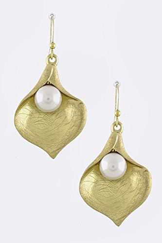 Baubles & Co Folded Metal Earrings