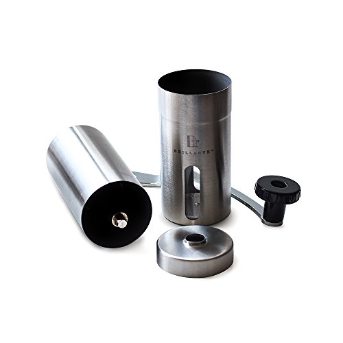 Brillante-Manual-Coffee-Grinder-Superior-Burr-Design-for-Consistently-Brewing-Espresso-Pour-Over-French-Press-Turkish-Coffee-Hand-Crank-Mill-with-Adjustable-Ceramic-Conical-Burr-BR-MCG-SS1