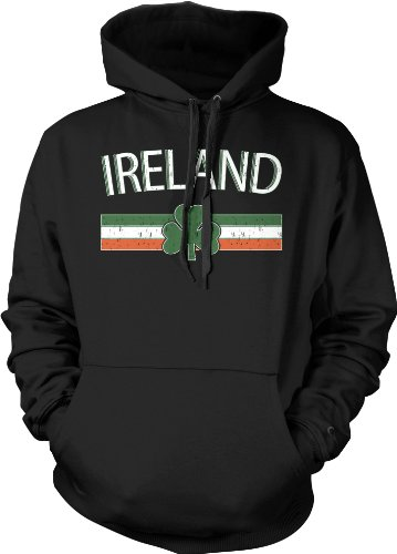 Ireland Crest International Soccer Sweatshirt, Irish Soccer Mens Hoodie