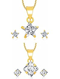 Archi Collection Pack Of CZ Pendant Set For Women (LT70_LT131)