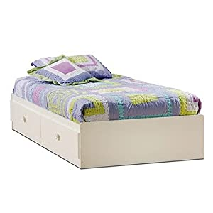 "Sand Castle Twin Mates Bed (39"") Pure White by South Shore"