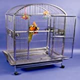 Medium Stainless Steel Dometop Bird Cage