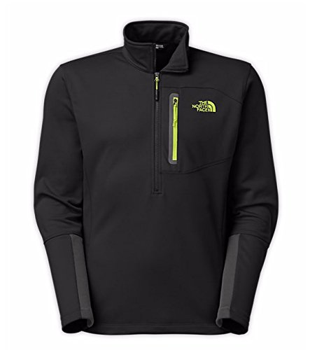 mens-the-north-face-canyonlands-1-2-zip-fleece-tnf-black-macaw-green-size-small