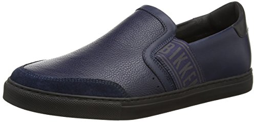 Bikkembergs Soccer Capsule 520 L.Shoe M Leather, Sneaker, Uomo, Blu (Blue), 41