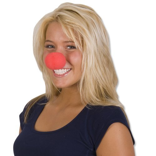 Rhode Island Novelty Foam Clown Noses, Red, 36-Pack
