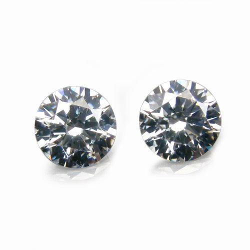 1.70 Ct. / 2 Pcs. / 5.0 mm. Diamond CZ High Quality